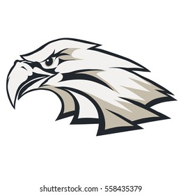 Eagle head logo Template, mascot graphic, Portrait of a bald eagle. Vector