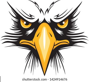 Eagle head logo for t-shirt, Hawk mascot Sport wear typography emblem graphic