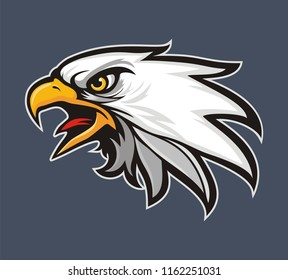 Eagle head logo for t-shirt, Sport wear , emblem graphic, athletic apparel