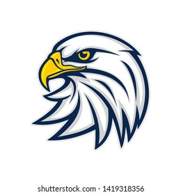 Eagle head logo vector illustration
