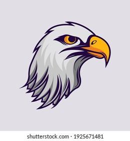 Eagle head mascot for logo gaming or e-sport