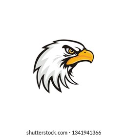 eagle head mascot vector on a white background