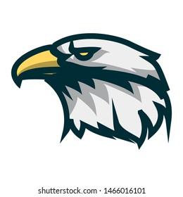 Eagle head minimalist logo design. Eagle head vector illustration