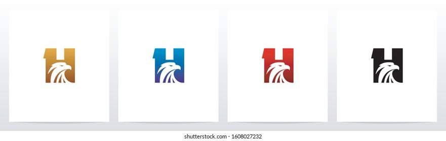 Eagle Head On Letter Logo Design H