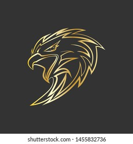 Eagle head in outline style.