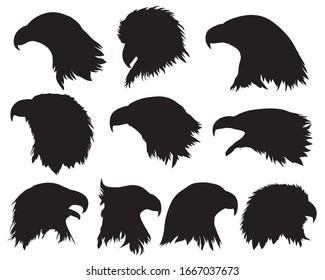 eagle head silhouette, eagle head icon, eagle head mascot