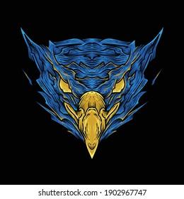 eagle head t shirt illustration