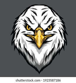 eagle head vector illustration, can be used for mascot, logo, apparel and more