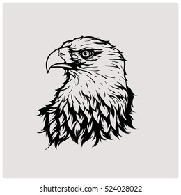 Eagle Head. Vector illustration emblem.