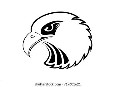 Eagle Head - vector illustration emblem