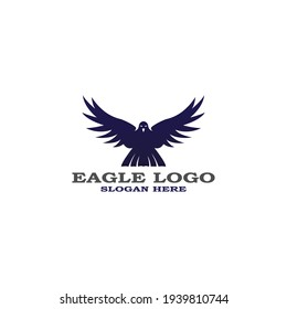 Eagle icon logo design vector template