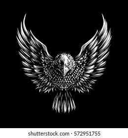 Eagle Illustration on Dark Background