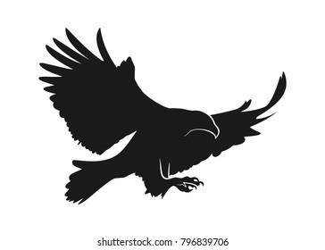 eagle illustration symbol. eagle silhouette.