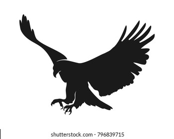 eagle illustration symbol. eagle silhouette.