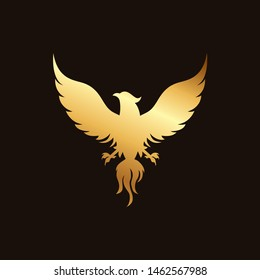 Eagle illustrations isolated on black background. Vector illustration