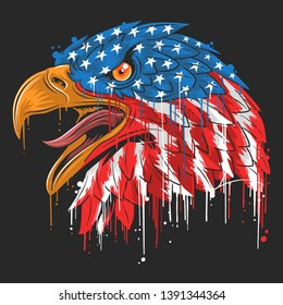 EAGLE INDEPENDANCE USA FLAG AMERICA IMAGE VECTORIELLE