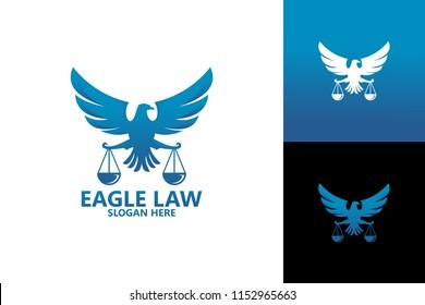 Eagle Law Logo Template Design Vector, Emblem, Design Concept, Creative Symbol, Icon