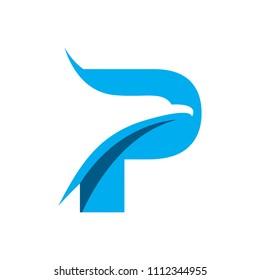eagle letter P logo