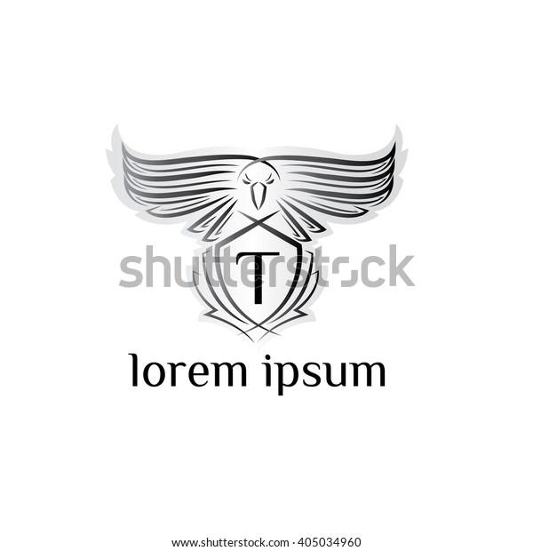Eagle Letter T Logo Bird Logophoenix Stock Vector Royalty Free 405034960