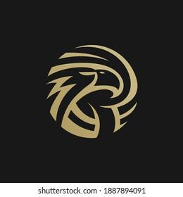 eagle logo with circle shape for business company
