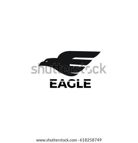 eagle logo design のベクター画像素材 ロイヤリティフリー