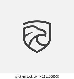 eagle logo design inspiration. eagle shield line art