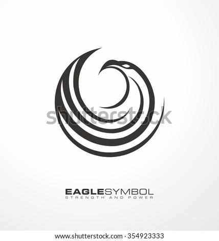 eagle logo design layout creative symbol のベクター画像素材