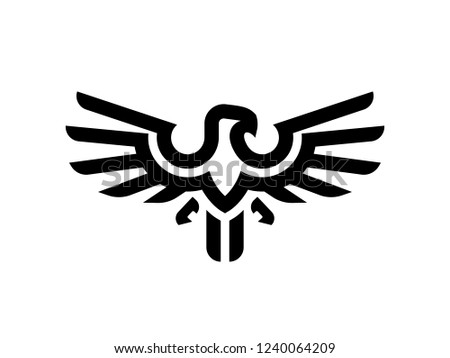 eagle logo design template stock vector royalty free 1240064209