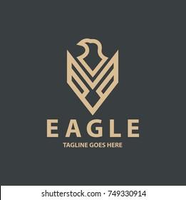 Eagle logo design template. Royal eagle logo. Vector illustration