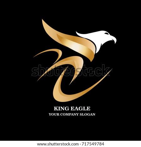 eagle logo design template vector illustration stock vector royalty
