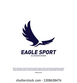 Eagle logo design vector. Birds logo concept vector template