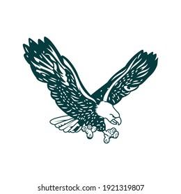 Eagle logo design and white background use