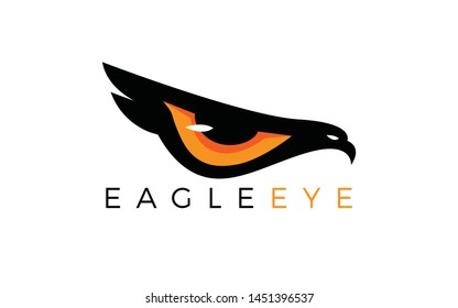 Eagle logo forming eyes that are staring sharply