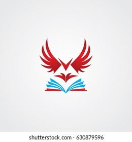 eagle logo, icon education