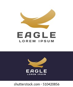 Eagle logo. Eagle Icon. Eagle Head. Falcon logo. Falcon vector. Elements for brand Identity. Delivery service logo. Business card. Vector logo template. Eagle flying vector.