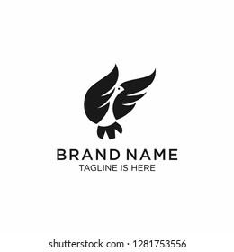 eagle logo icon vector illustration