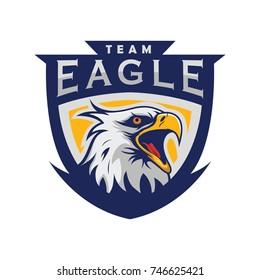 Eagle logo mascot design illustration