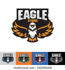 The eagle logo is opening wings, Eagle E-sport logo template