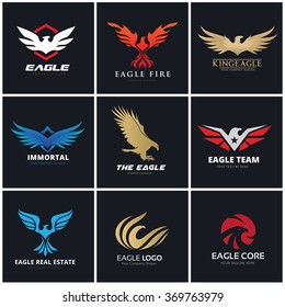 Eagle logo set