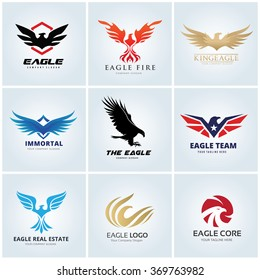 Eagle logo set.