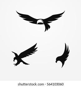Eagle logo, silhouette