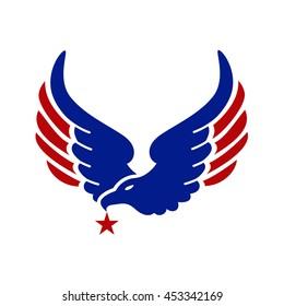 eagle logo and star