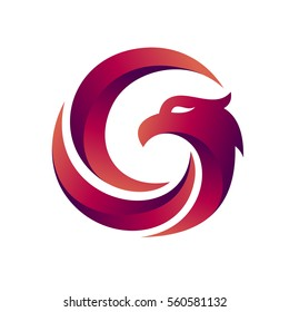 Eagle Logo Template in Circle Shape