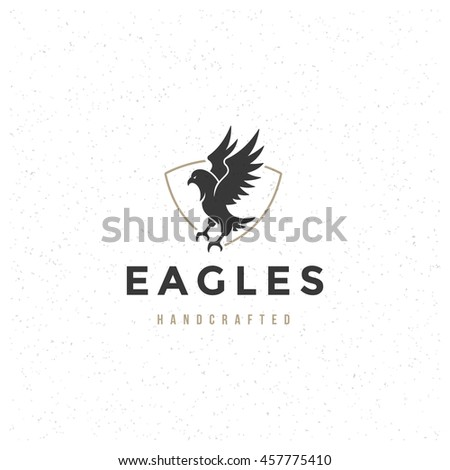 eagle logo template vector design element stock vector royalty free