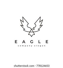 Eagle logo template vector icon symbol illustration