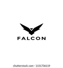 Eagle logo vector design graphics, falcon or hawk illustration
