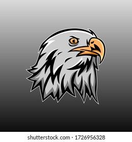 Eagle logo vector mascot design