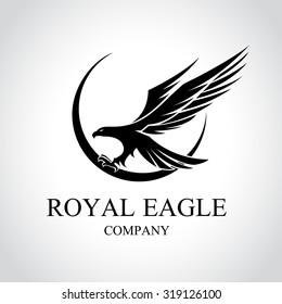 Eagle logo,royal eagle, Animal logo,Animal logo collection,Elements for brand identity,Vector Logo template.