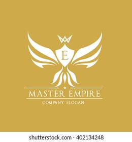 Eagle luxury Hotel Logo Template