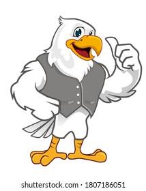 eagle mascot cartoon in vector